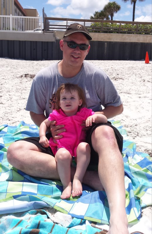 Beach Time with Daddy