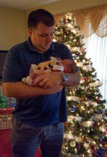 Adoptive Family Photo: Uncle Chad with Our Sweet Niece, click to view bigger version