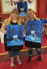 Adoptive Family Photo: Paint Night with a Friend, click to view bigger version