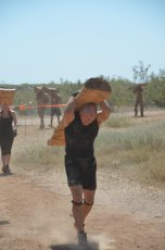 Adoptive Family Photo: Carrying a Heavy Log for the Tough Mudder!, click to view bigger version
