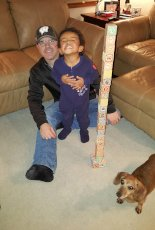 Adoptive Family Photo: Building Towers with Daddy, click to view bigger version