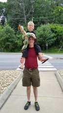 Adoptive Family Photo: Giving a Friend's Son a Shoulder Ride, click to view bigger version