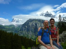 Adoptive Family Photo: Hiking in the Swiss Alps, click to view bigger version