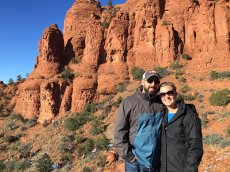 Adoptive Family Photo: Sightseeing in Sedona, click to view bigger version