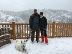 Adoptive Family Photo: Mountain Time with Our Snow Pup, click to view bigger version