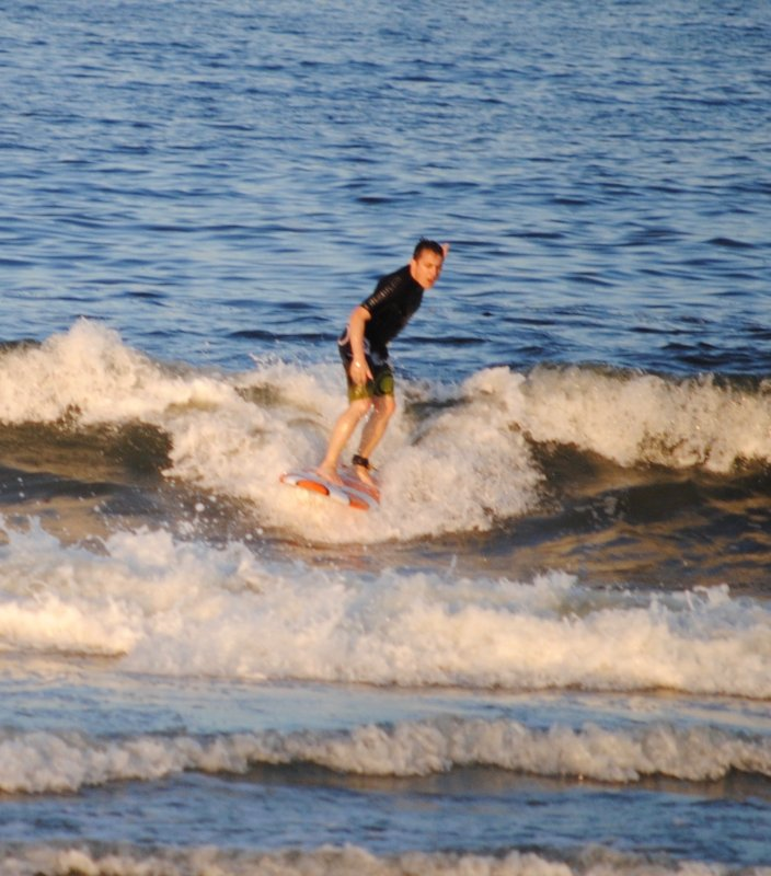Chris Surfing