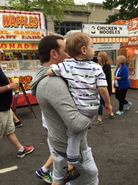 Daddy & Abram at the 4th of July Carnival