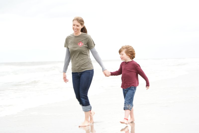 Walks on the Beach are Always Fun with Mom!