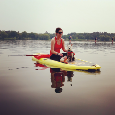Adoptive Family Photo: Paddle Boarding on a Lake Near Our Home, click to view bigger version