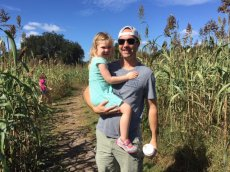Adoptive Family Photo: Fun at the Corn Maze, click to view bigger version
