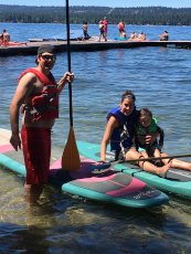 Adoptive Family Photo: Paddleboarding on the Lake, click to view bigger version