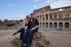 Adoptive Family Photo: Taking a Break in Rome, click to view bigger version