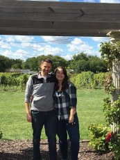 Adoptive Family Photo: Visiting a Sunny & Beautiful Vineyard in Minnesota, click to view bigger version