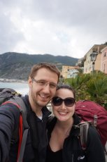 Adoptive Family Photo: Backpacking in Cinque Terre, Italy Together, click to view bigger version