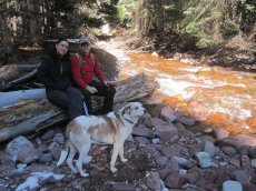 Adoptive Family Photo: Hiking with Our Dog, click to view bigger version