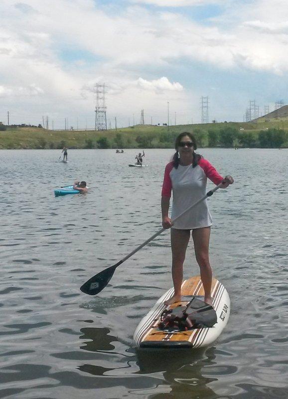 Paddle Boarding at the Lake