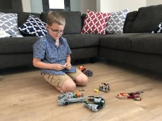 Adoptive Family Photo: Matthew Loves to Play with Legos, click to view bigger version