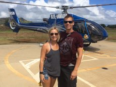 Adoptive Family Photo: Helicopter Ride in Hawaii, click to view bigger version