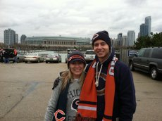Adoptive Family Photo: Staying Warm at a Bears Game, click to view bigger version