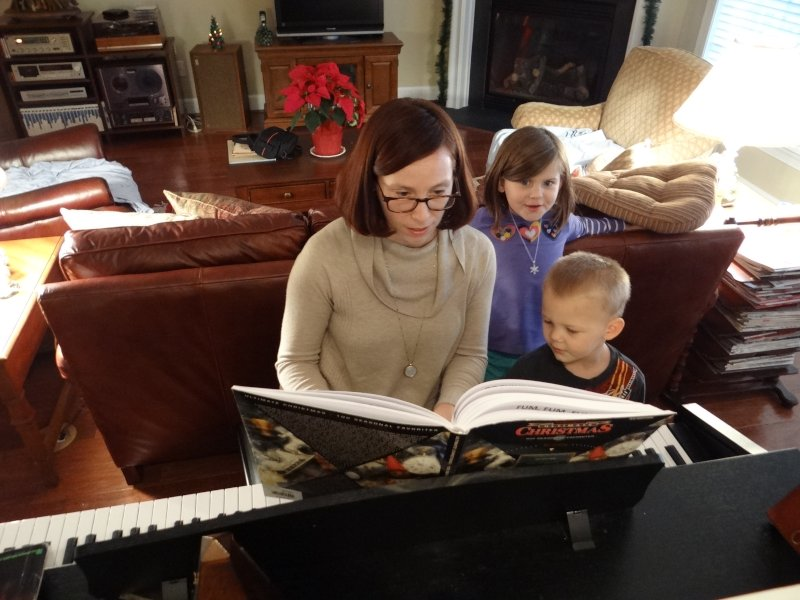 Playing Christmas Songs with Our Niece and Nephew