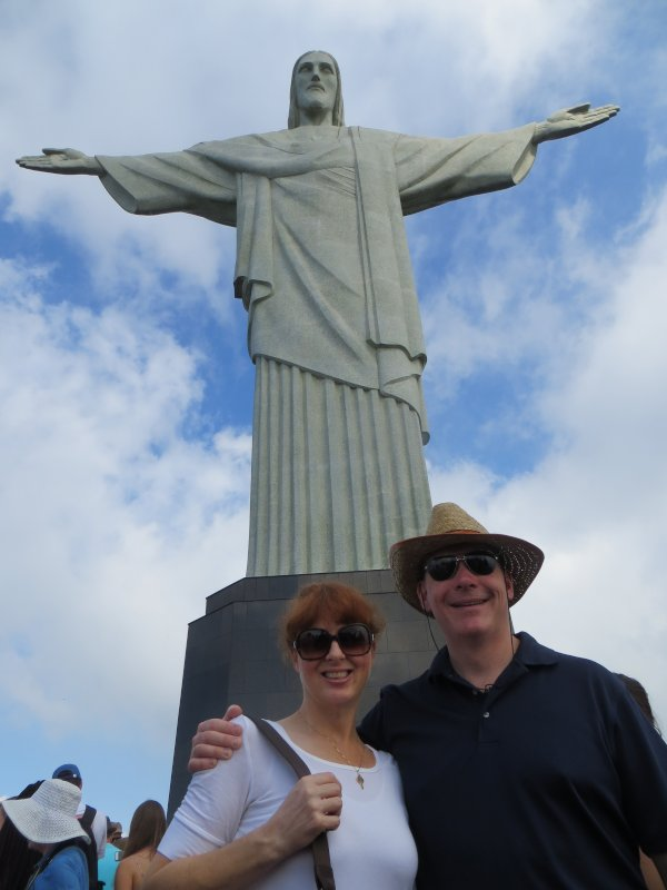 At the Food of the Christ Redeemer Statue in Rio