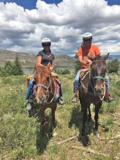 Adoptive Family Photo: Horseback Riding in Vail, click to view bigger version