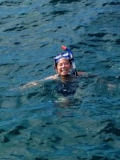 Adoptive Family Photo: Heather Snorkeling, click to view bigger version