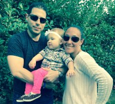 Adoptive Family Photo: Family Apple Picking, click to view bigger version