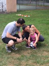 Adoptive Family Photo: Fun at Soccer Practice, click to view bigger version