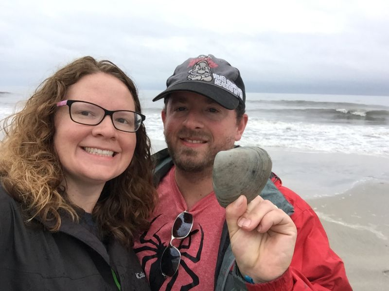 When We Are at the Beach Derek Loves to Go for Walks & We Were Impressed With This Seashell