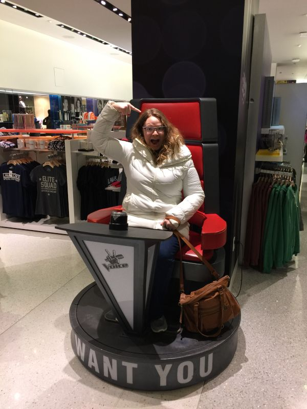 We Found the Voice Chair & the Words on the Bottom Are Right We Want You to Be Part of Our Family, to Choose Us to Love on Your