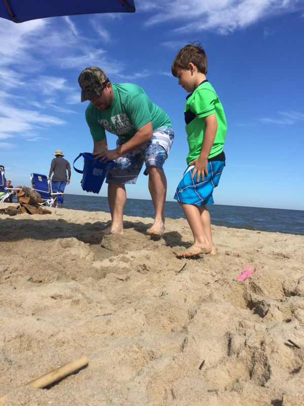 Derek's Side Goes to the Beach in September & Derek Always Jumps Right in and Plays With All the Nieces & Nephews