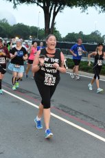 Adoptive Family Photo: Elizabeth Running Her First 5k, click to view bigger version