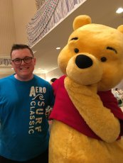Adoptive Family Photo: Derek with Winnie the Pooh, click to view bigger version