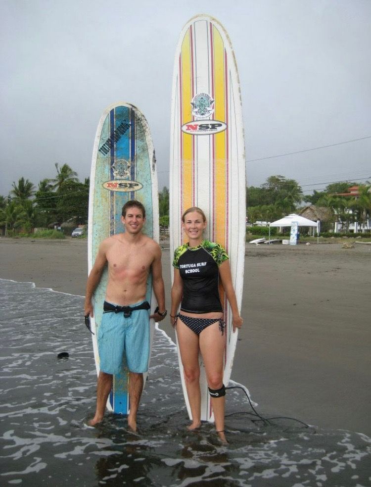 Surfing in Central America