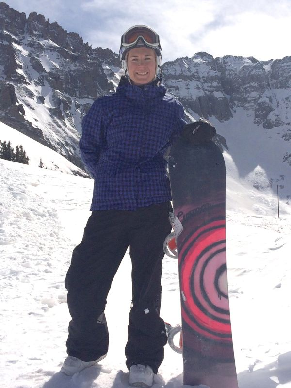Snowboarding Down the Mountain