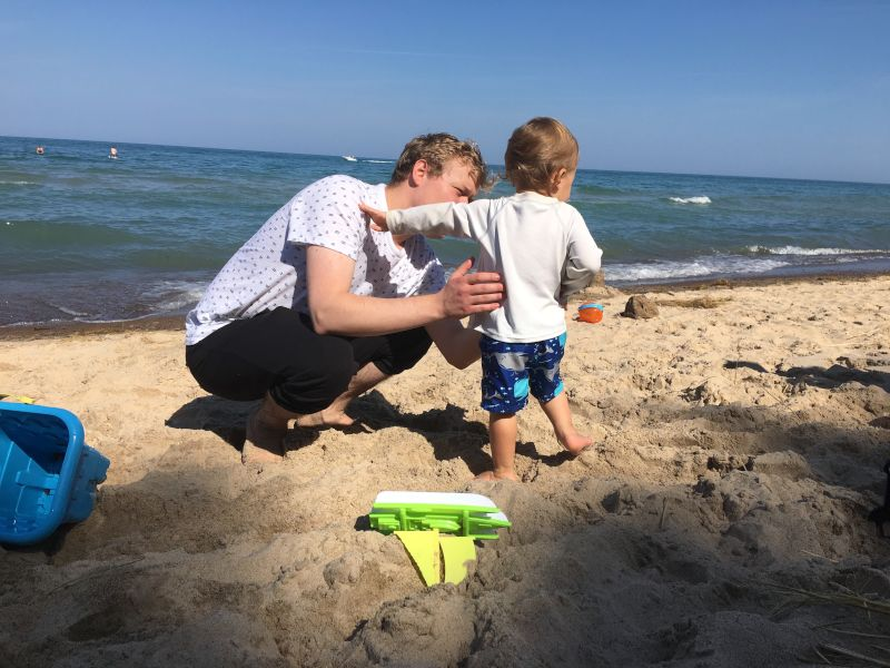 Beach Time with Our Nephew