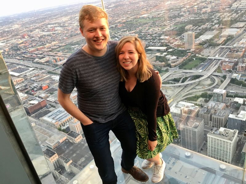 Looking Over the City at Willis Tower