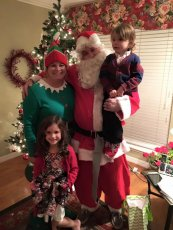 Adoptive Family Photo: Holiday Fun with Our Niece & Nephew, click to view bigger version