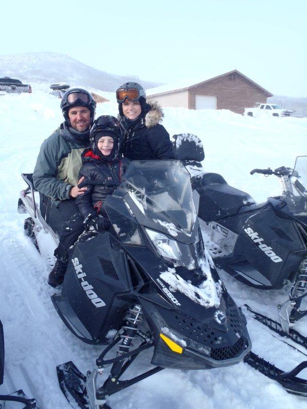 Snowmobiling in Utah