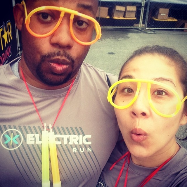 Goofing Around at the Electric Run