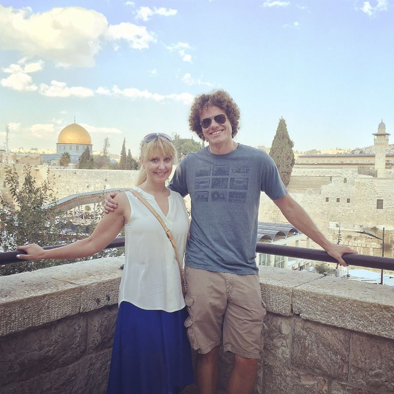 In Front of the Dome of the Rock in Israel