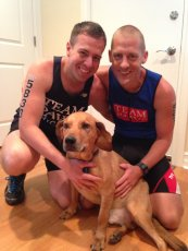Adoptive Family Photo: Celebrating a Successful Triathlon, click to view bigger version