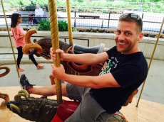 Adoptive Family Photo: Dan Having Fun at the Zoo, click to view bigger version