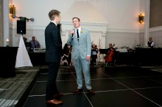 Adoptive Family Photo: Blake Surprising Dan with a Serenade at Our Wedding, click to view bigger version