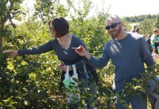 Adoptive Family Photo: Beautiful Day for Apple Picking, click to view bigger version