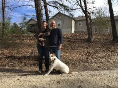 Adoptive Family Photo: Heading Out for a Walk on Our Property, click to view bigger version