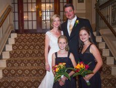 Adoptive Family Photo: With the Girls at Our Wedding, click to view bigger version