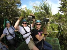 Adoptive Family Photo: Ziplining in Costa Rica, click to view bigger version