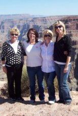 Adoptive Family Photo: Tara at the Grand Canyon with Her Family, click to view bigger version